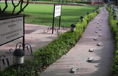 Foot prints of Gandhiji
